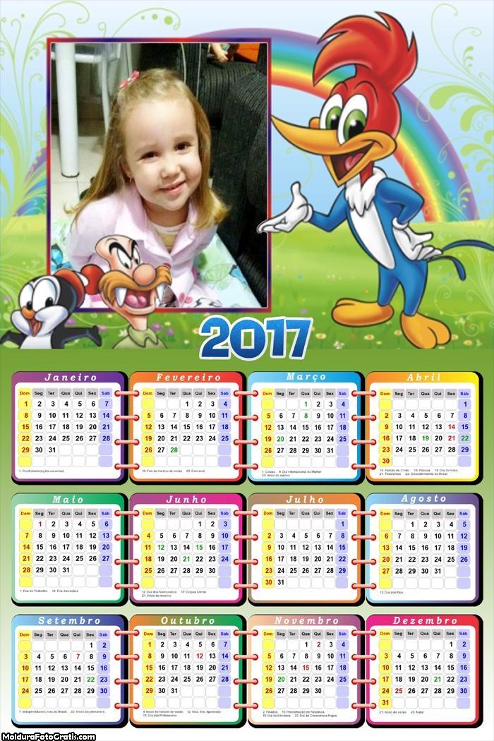 Calendário Pica Pau Idai 2017