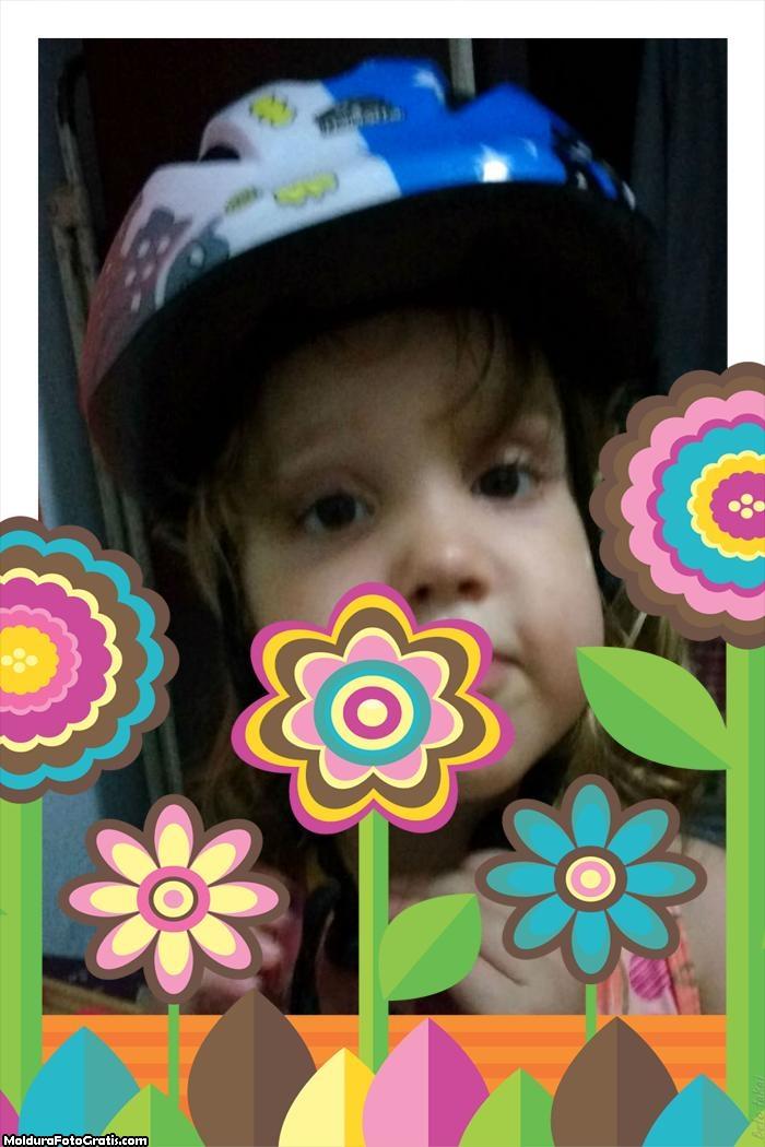 FotoMoldura Flores Coloridas