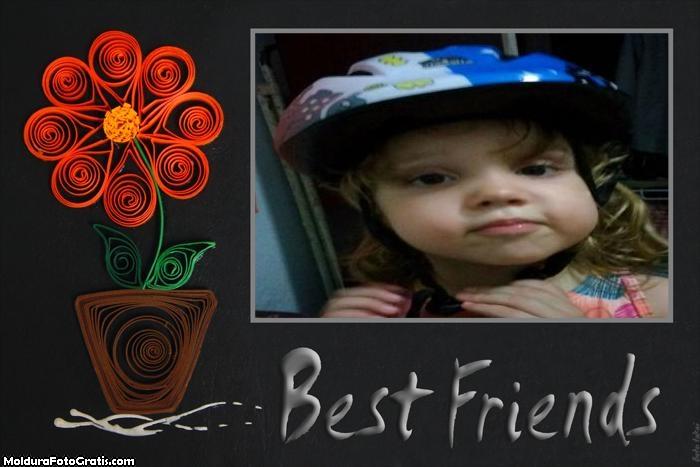 FotoMoldura Amiga Flor Best Friends