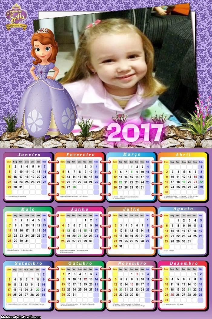 Calendário Aniversário Princesa Sofia 2017