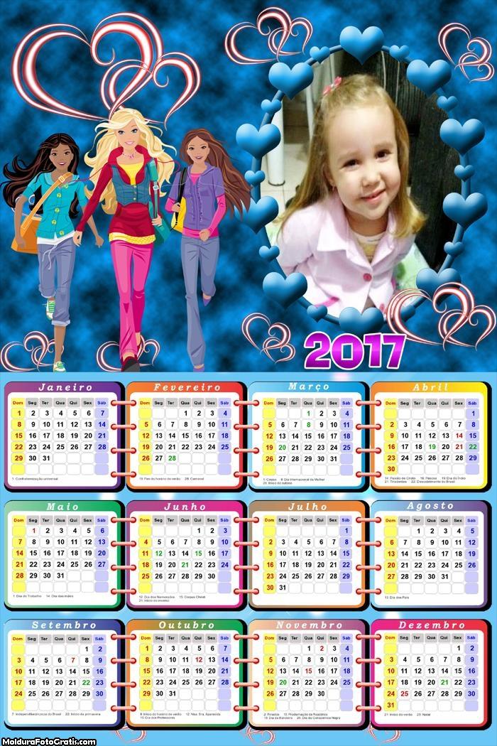 Calendário Barbie Collector 2017