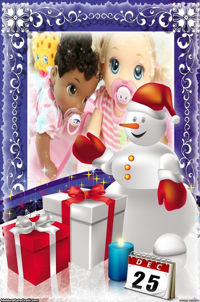 25 de Dezembro dia de Natal FotoMoldura