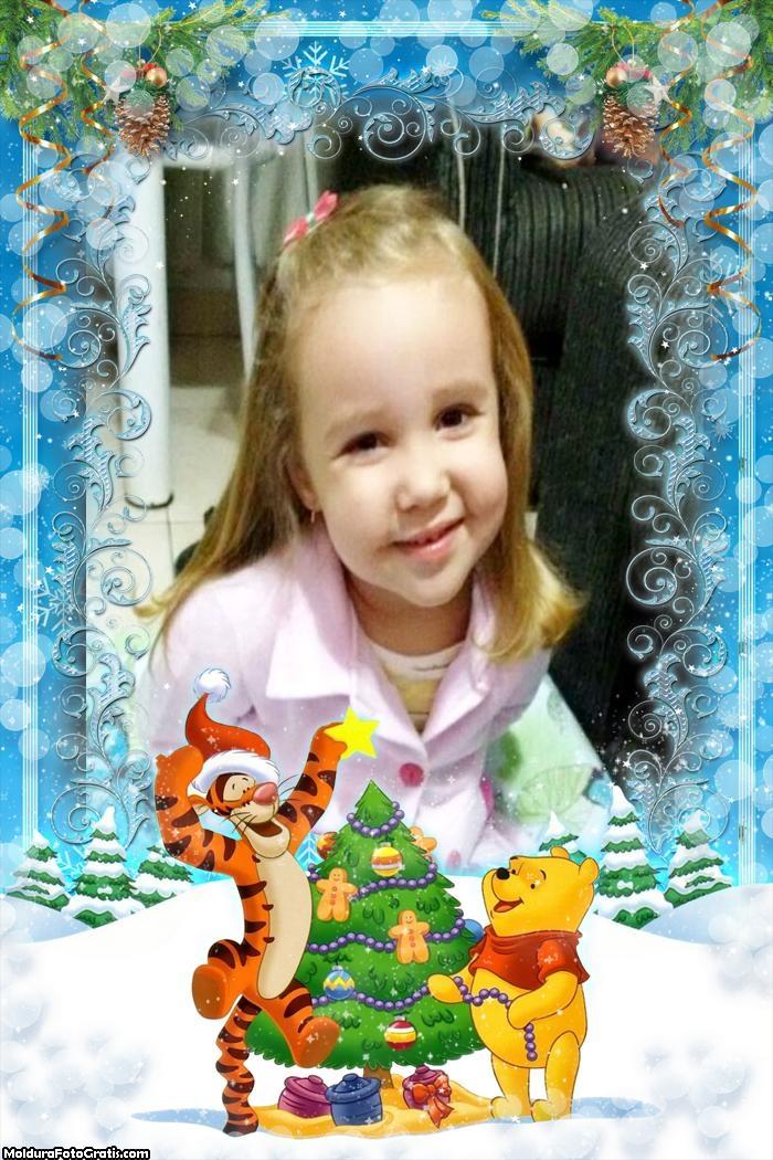 Moldura Natal do Ursinho Pooh