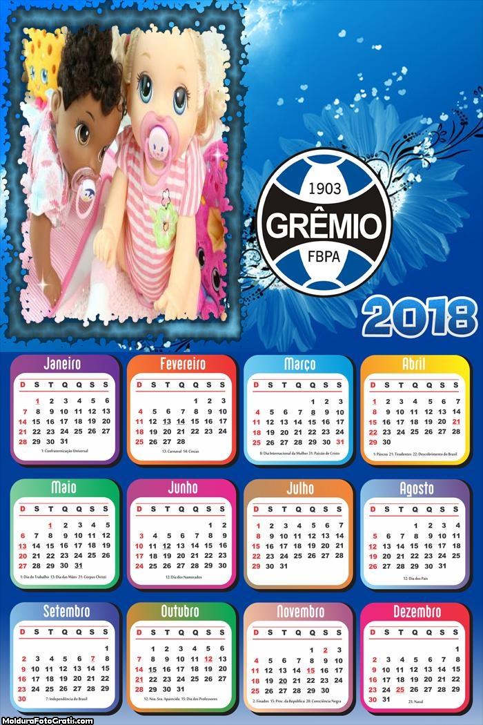 Calendário do Time Grêmio 2018