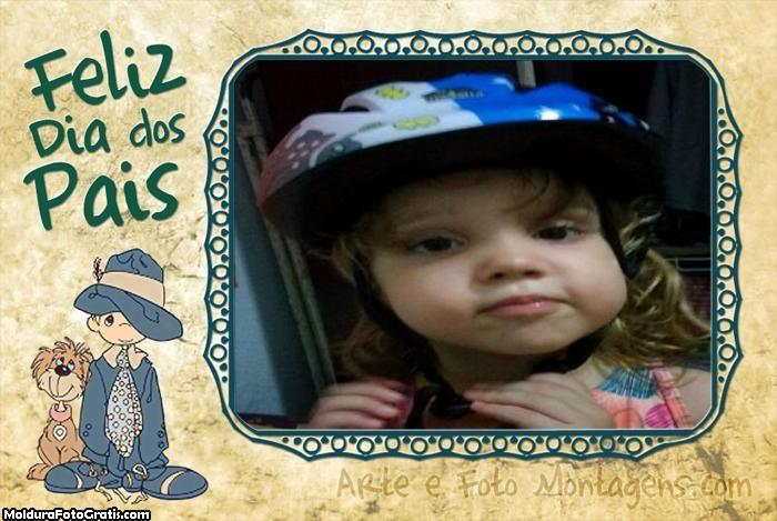 FotoMoldura Filho e Cachorrinho Dia dos Pais