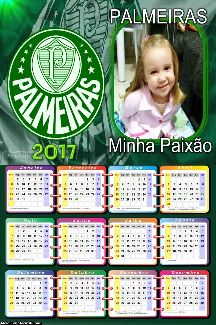 Calendário Time do Palmeiras 2017