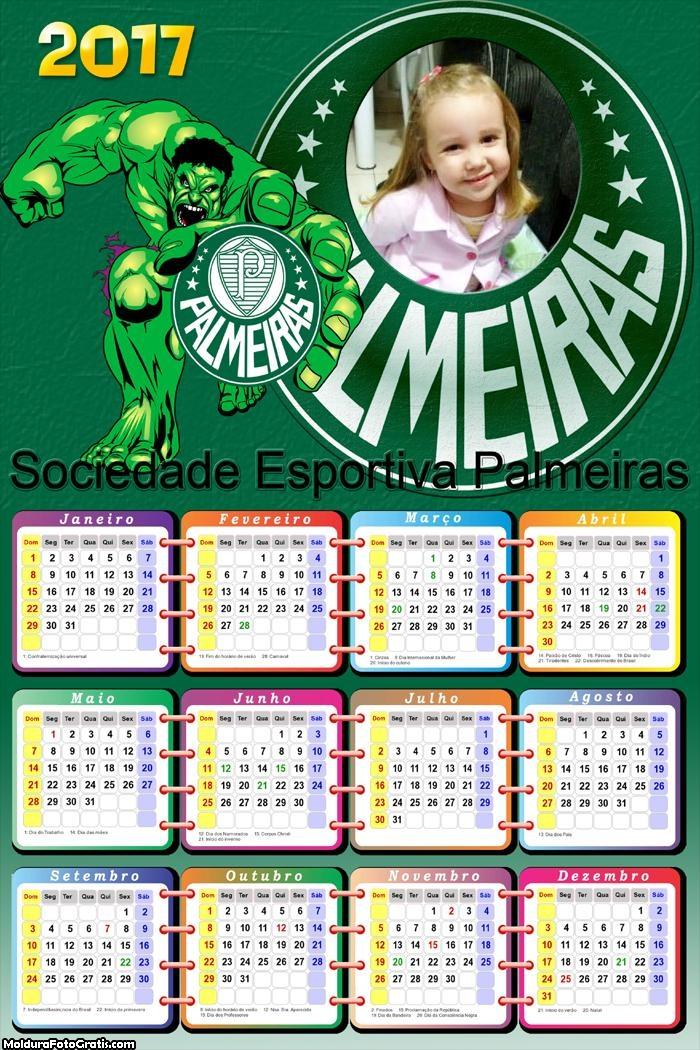 Calendário Palmeiras Hulk 2017