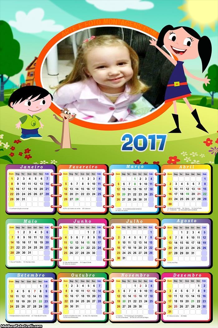 Calendário Luna e seus Amigos 2017