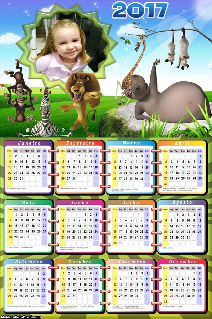 Calendário Madagascar 2017