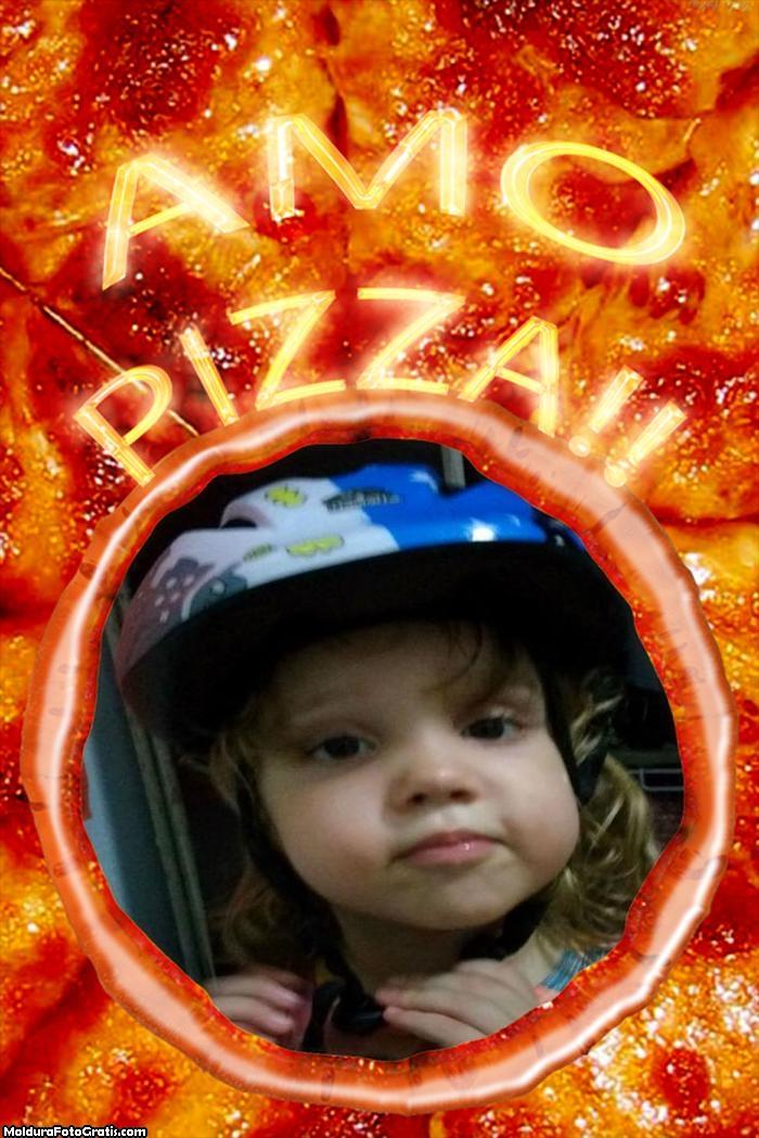 FotoMoldura Amo Pizza