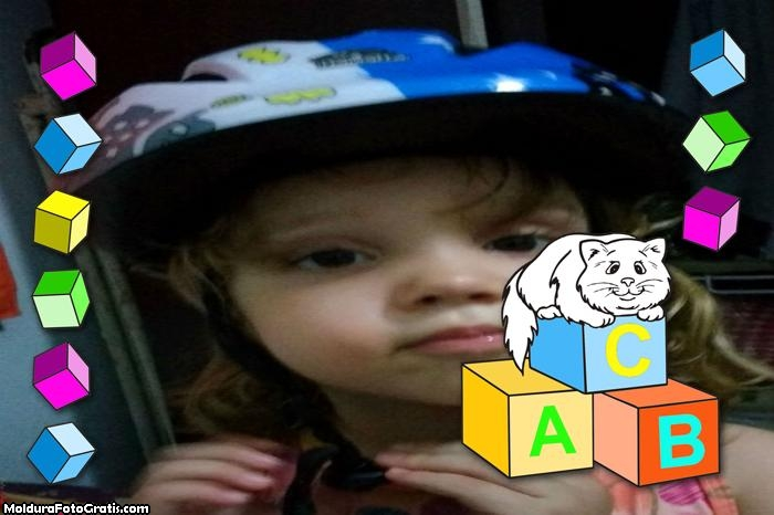 FotoMoldura Dados Coloridos Infantil