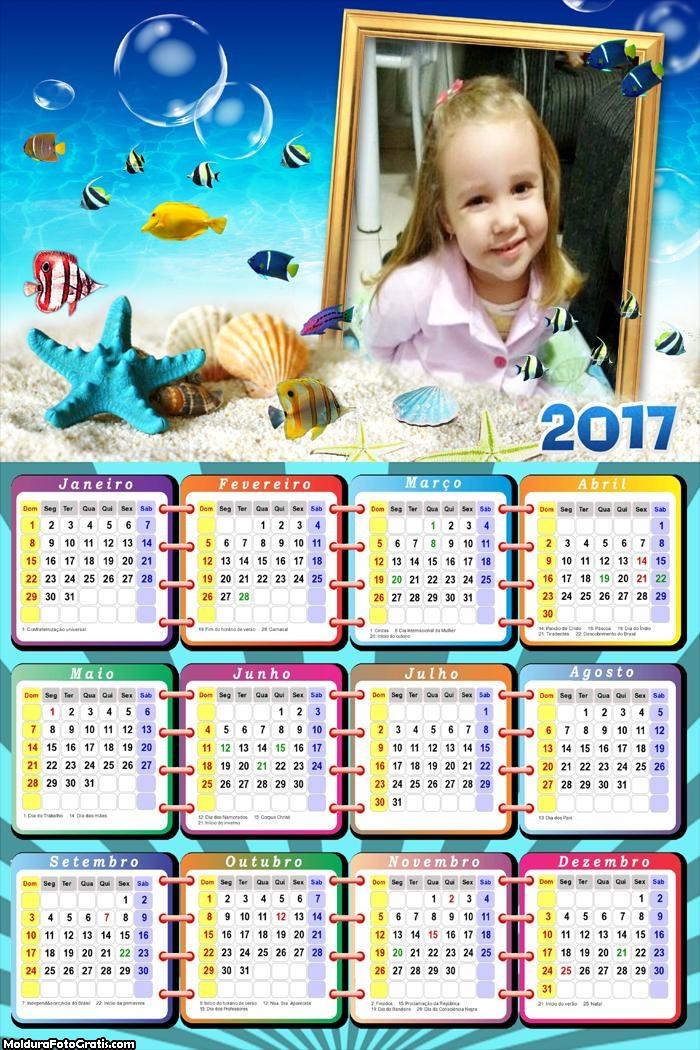Calendário do Mar 2017