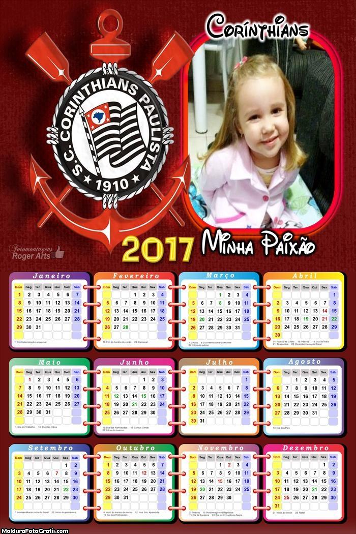 Calendário Corinthians Paixão 2017