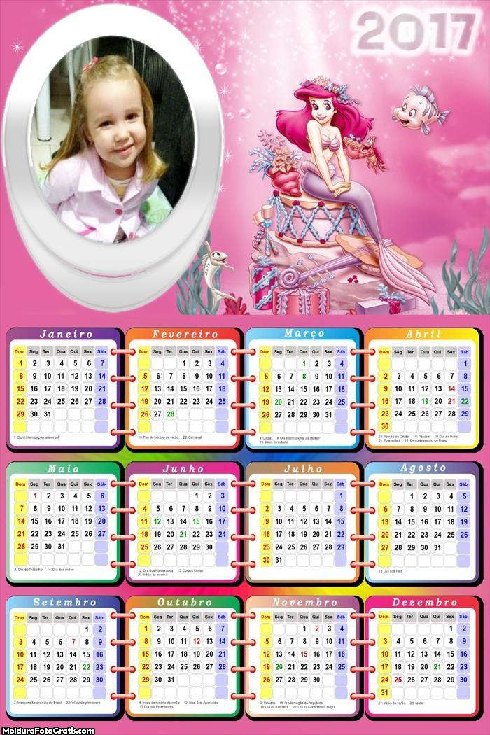 Calendário Princesa Ariel e Seu Tesouro