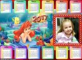 Calendário Princesa Ariel Meiga FotoMoldura 2017