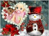 Boneco de Neve de Paletó Vermelho