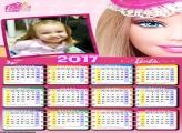 Calendário Rosto da Boneca Barbie 2017