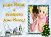 Feliz Natal e Próspero Ano Novo FotoMoldura