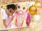 Decoração Natalina Dourada FotoMoldura