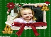 Ursinho de Natal Moldura