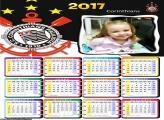 Calendário Corinthias Brasão FotoMoldura 2017