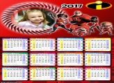 Calendário dos Incríveis Família 2017