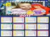 Calendário Princesa Ariel e Linguado