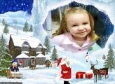 Casa do Papai Noel Moldura