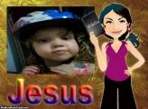 FotoMoldura Menina e a Bíblia Sagrada