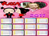 Calendário Pucca e Garu 2017