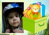 FotoMoldura Caixa de Presente Infantil