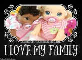 I Love My Family FotoMoldura