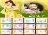 Calendários Princesa Bela Disney 2017