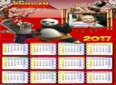 Calendário Kung Fu Panda 2017 Foto Moldura