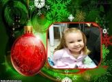 Moldura Bola Vermelha de Natal
