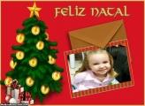 Cartão Feliz Natal Foto Moldura