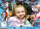 Natal Infantil Foto Moldura