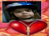 FotoMoldura Coração com Zipper Dia dos Namorados