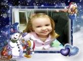 Foto Moldura Natal com Neve
