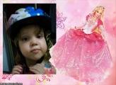 FotoMoldura Vestido Rosa Barbie