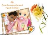 Frase Eu te Amo Moldura Dia das Mães