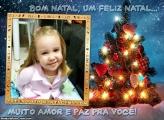 Mensagem de Natal na Árvore de Natal
