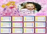 Calendário Princesa Bela e Suas Jóias FotoMoldura 2017