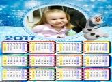 Calendário Olaf Boneco de Neve Frozen 2017