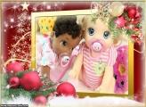 Decoração Vermelha de Natal FotoMoldura