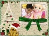 Laço Verde de Natal FotoMoldura