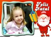 Entrega de Presentes Papai Noel Moldura