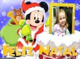 Papai Noel Mickey FotoMoldura