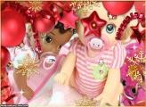 Balões de Enfeite de Natal FotoMoldura