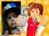 FotoMoldura Menina e a Foto No Celular